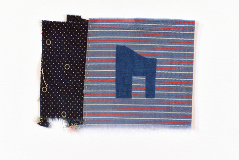 T  A  N  Y  A     H  A  S  T  I  N  G  S     G  I  L  L  Mend Quilting squares, fabric inlay and tread