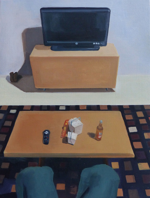 Paintings Coffee Table with Chinese Takeout (Sold)