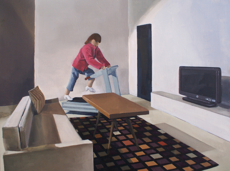 Paintings Woman on Treadmill