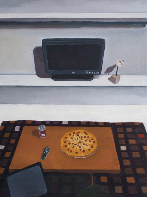 Paintings Coffee Table with Pizza
