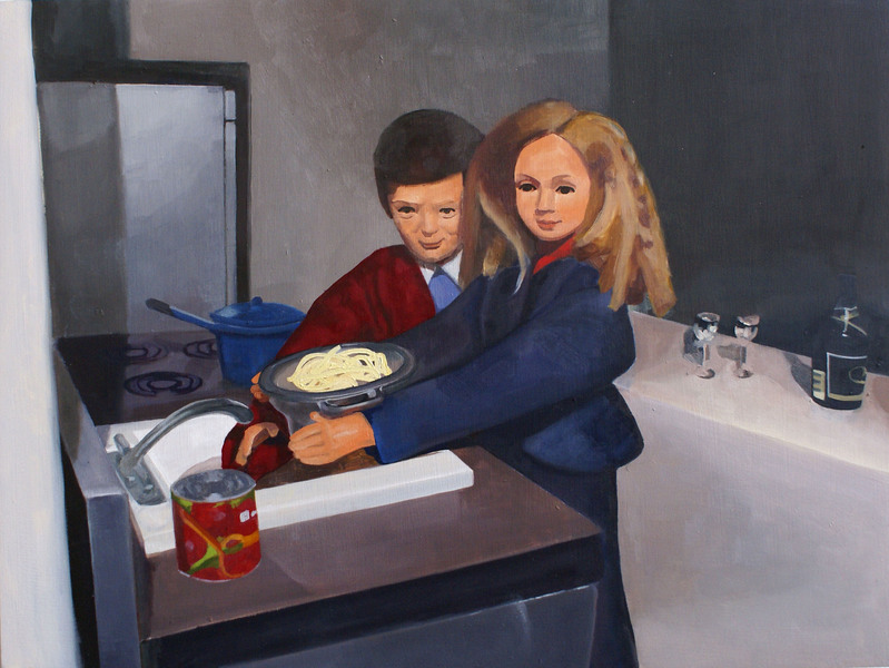 Paintings Couple with Pasta