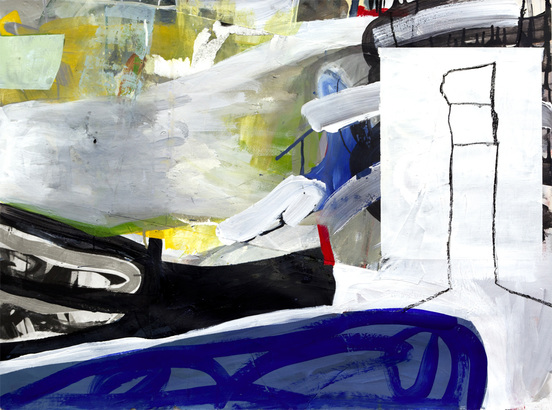 Tatana Kellner PAINTINGS acrylic and collage on paper