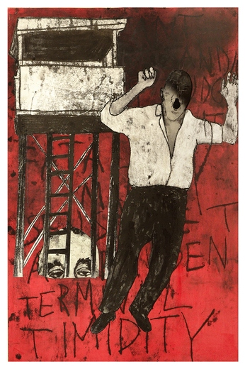 Tatana Kellner PAINTINGS trace monoprint, acrylic, collage