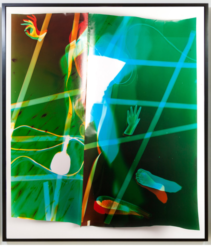 TATIANA KRONBERG work photogram mounted on aluminum