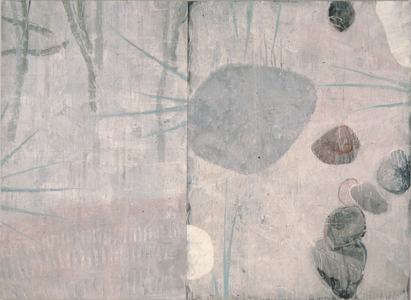 Arlan Huang Even in the Dark  1989 - 1990 Acrylic and Oil on Canvas