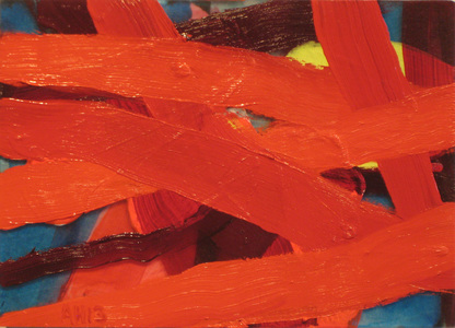 Arlan Huang Reds 2013 -2014 Oil and acrylic on plexi