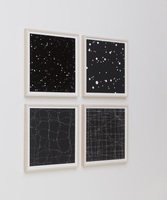 TENESH WEBBER - PHOTOGRAPHS INSTALLATION VIEWS BLACK AND WHITE PHOTOGRAMS