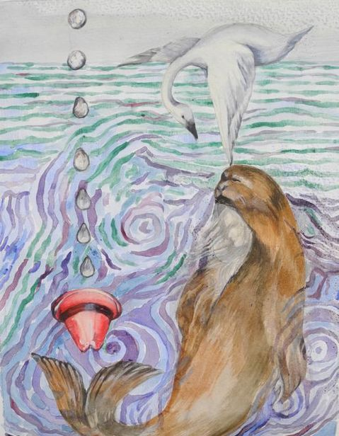 WE SEA/please refer to resume page for a statement on these paintings. selkie