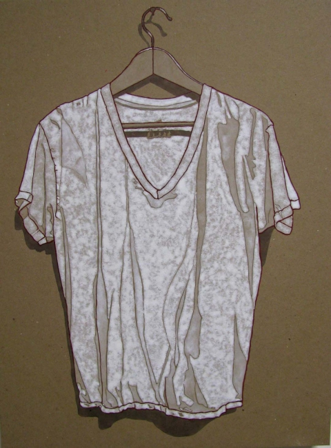 Brown Paper Series V Neck
