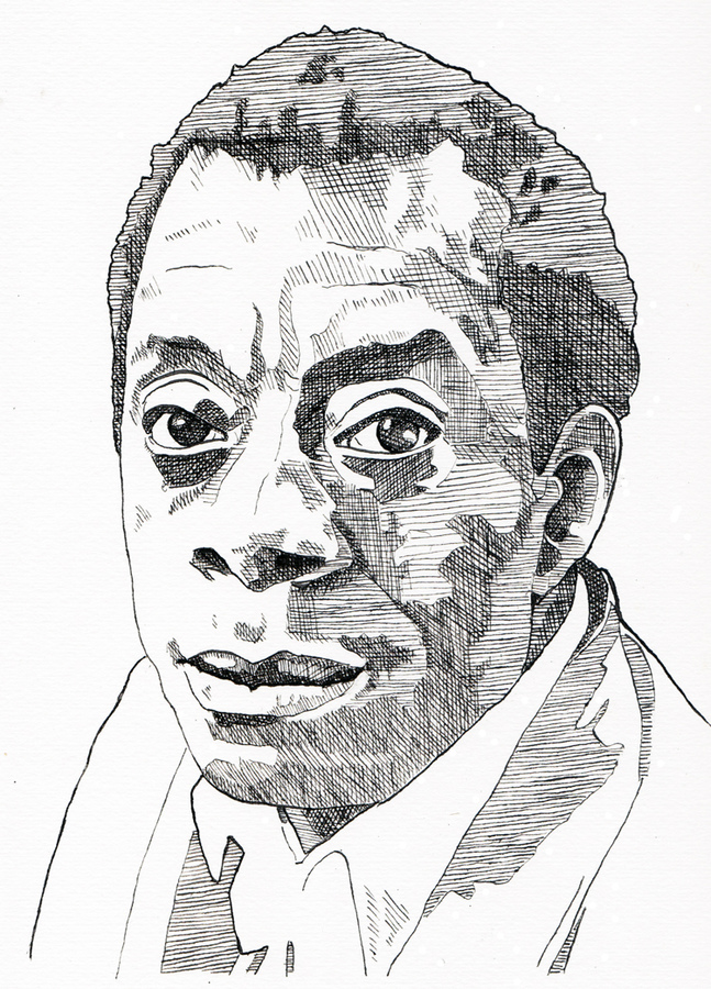 the Gay Agenda Drawings James Baldwin