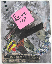Laura Bell and Ian Ganassi WPKN Radio Corpses Text, ads, mixed media, and Post-it on paper