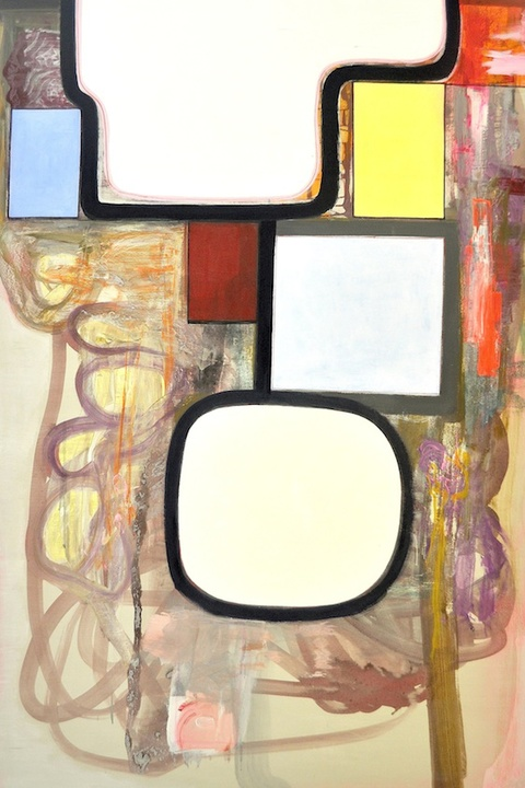 Large and Mid-size Paintings  Diatomaceous earth, gesso, Flashe paint, acrylic, ink, magic marker on wood panel