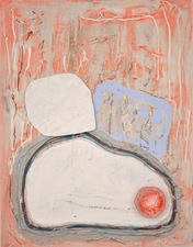 Theresa Hackett Current paintings  Diatomaceous earth, gesso, Flashe paint, acrylic, marker, clay on wood panel.