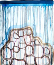 Theresa Hackett Bogliasco Works on Paper Flashe paint, marker, pigment on BFK paper