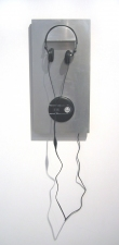 THE THIRD BARN Sculpture Electronics with sound, aluminum, MDF