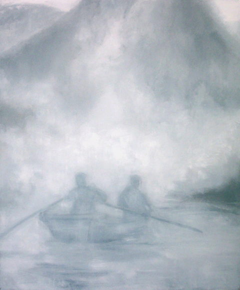 Thuan Vu Boat People (2002-2003) oil on canvas