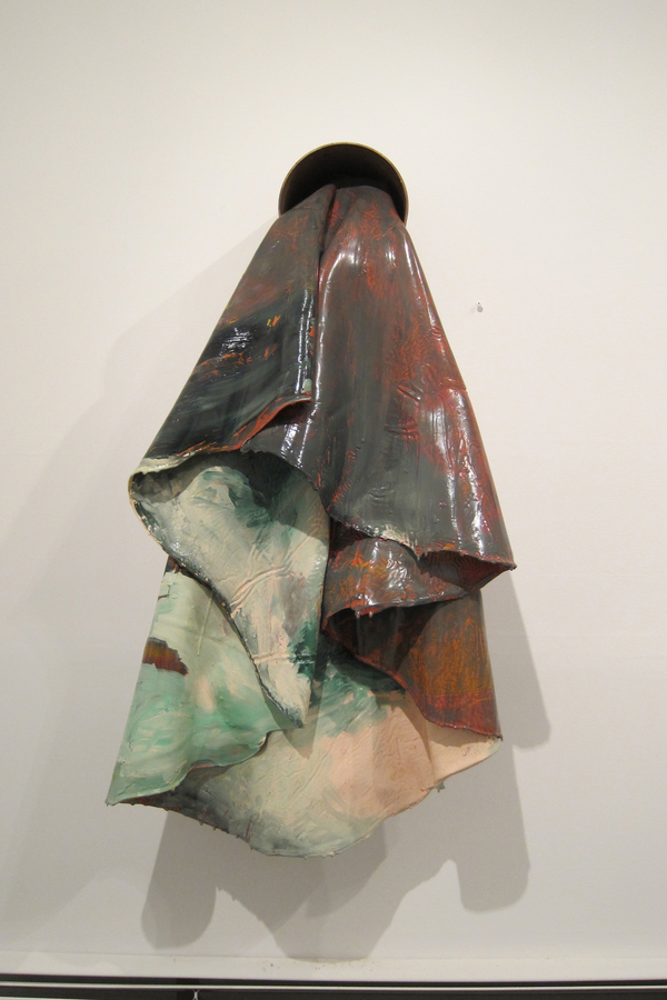 Tiffany Wollman 2013 Discarded house paint and spray paint in artist constructed and rusted steel pipe