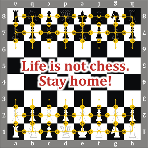 6 FEET Life Is Not Chess. 6 Feet. Stay Home!  by Alexander Limarev