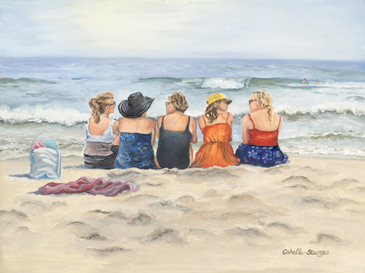 Tina Cobelle-Sturges Beach oil on linen