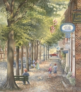 Tina Cobelle-Sturges Main Street Oil on canvas