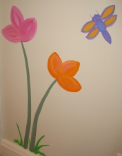 Tisha Myers Art for a child's room acrylic on wall