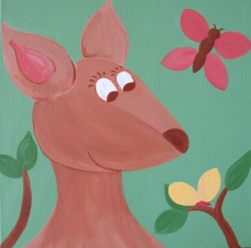 Tisha Myers Art for a child's room Acrylic on canvas