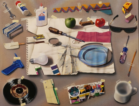 TODD MOORE Trompe- l'Oeil Paintings and Paintings About Paintings 1977-1990 acrylic/birch panel
