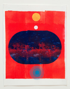 tom martinelli gallery 1 - recent work acrylic, fluorescent acrylic on paper
