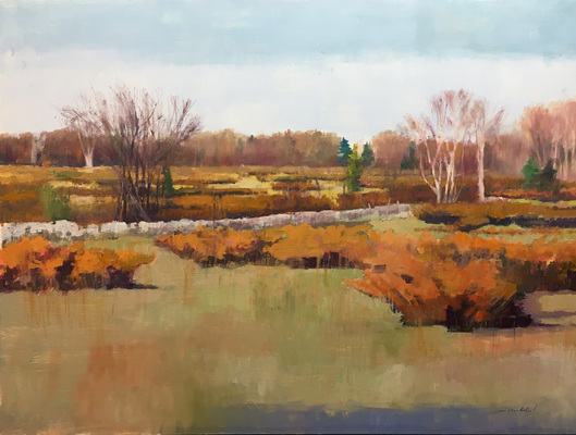 "Tom Maakestad Woodwalk Gallery 2017 18""x 24"" Art 23""x29"" Framed"