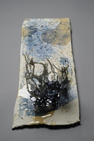 Tomoko Amaki Abe 2008 cotton, low fire clay, glazes, oxides, resin