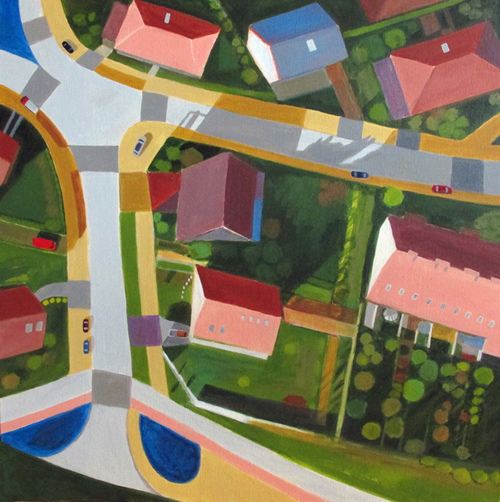 Toni Silber-Delerive Aerialscapes acrylic on canvas