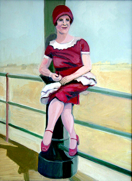 Figurative Eva on the Boardwalk SOLD