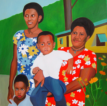 Figurative Fiji Family SOLD