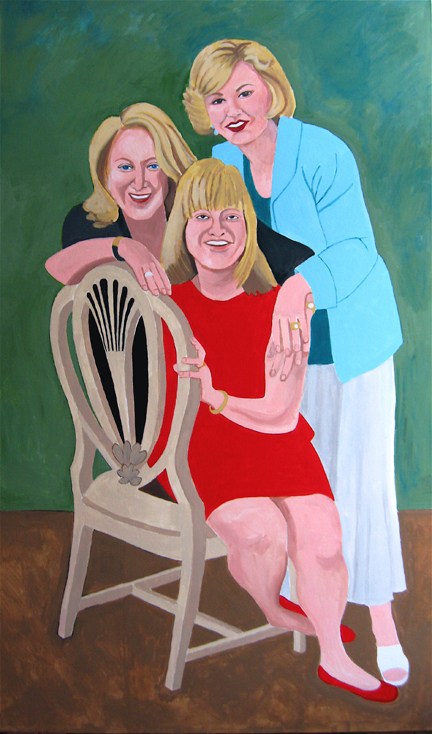 Figurative Three Blondes SOLD