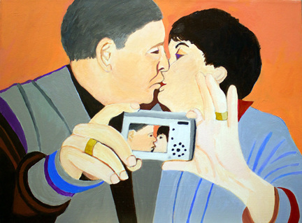 Figurative Couple with Camera