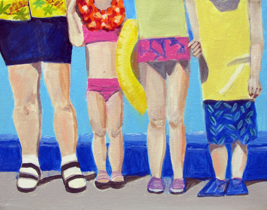 Figurative Legs on the Beach