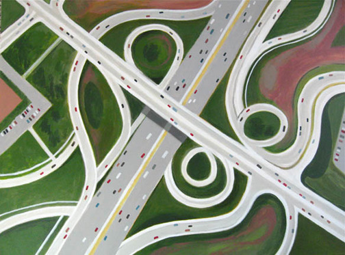 Aerialscapes Multiple Lane Highway SOLD