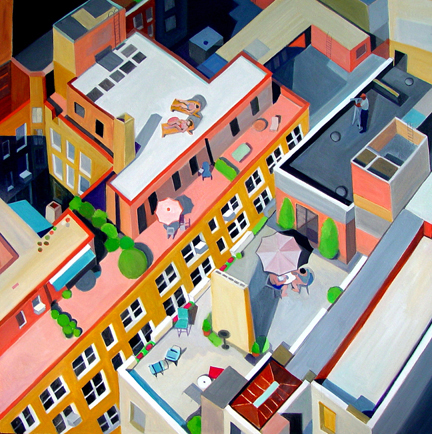 Aerialscapes Manhattan Rooftops SOLD