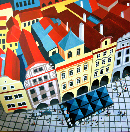 Aerialscapes Stare Mesto, Prague SOLD