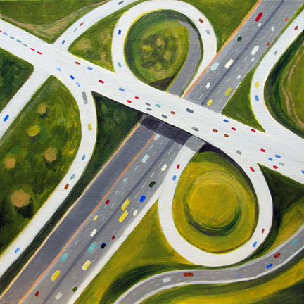 Aerialscapes Interchange with Loops SOLD