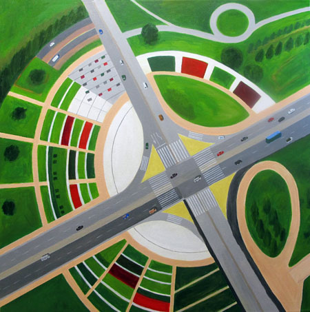 Aerialscapes Interchange with Garden