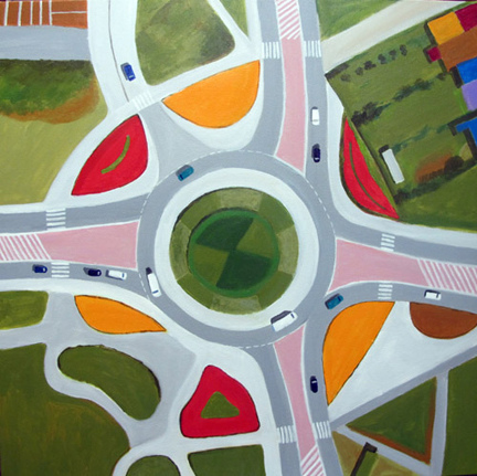 Aerialscapes Traffic Circle & Roads
