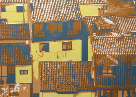 Prints Houses of Siena