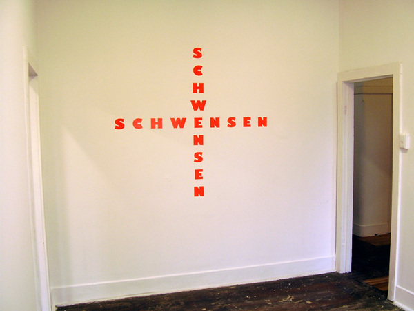 TONY SCHWENSEN Self Portrait (Non Objective Composition) 2007 Yeah But No But Yeah, SNO, Sydney, Australia Vinyl