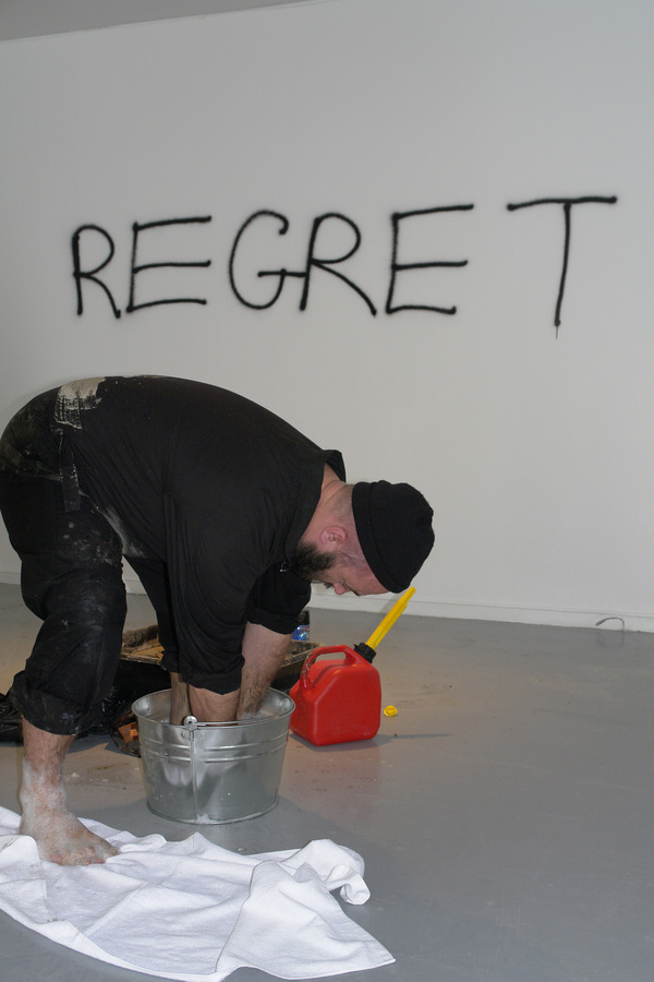 TONY SCHWENSEN Regret Remorse Repent 2010 Le Lieu Centre en art actuel, Quebec City, QC, Canada