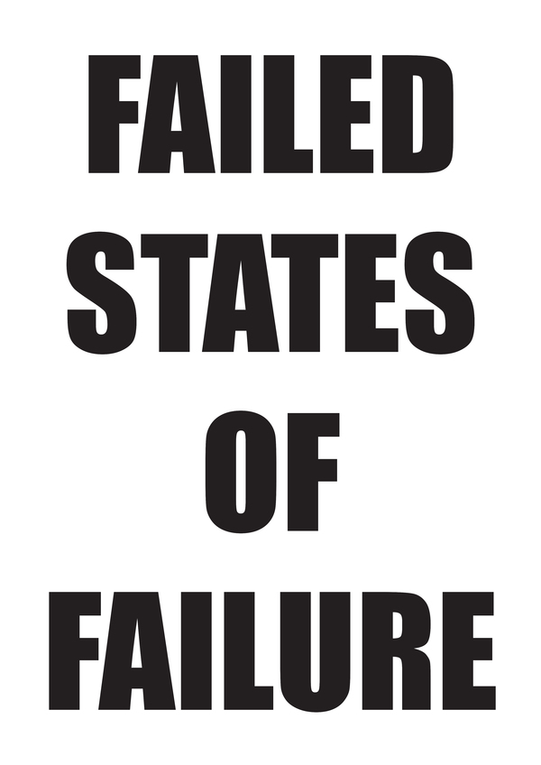 TONY SCHWENSEN Failed States Of Failure 200/20 2014 Sarah Cottier Gallery, Sydney, Australia Text