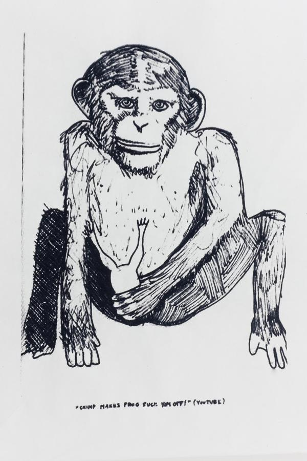 Monkey Business I 2012 Screenprint on Kozo