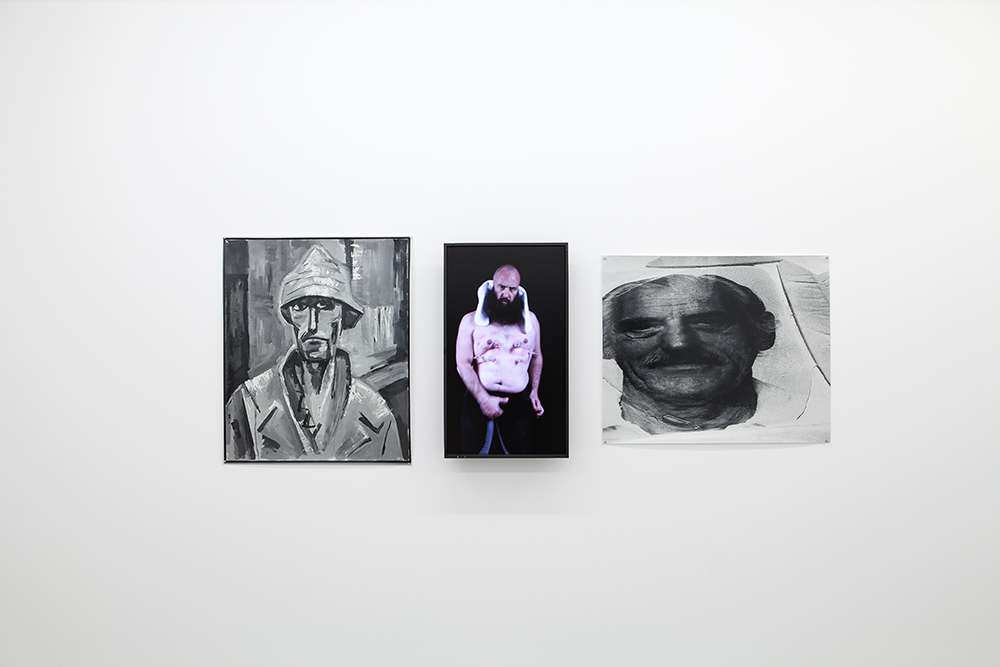 Creationism Triptychs (Notes on Idiocracy) 2013 Creationism Triptych IV (Eugenics and Art History) The Mother of Joseph Beuys, The Father of Mike Parr, The Son of Matthew Barney (Lazy American Conceptualism)