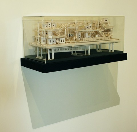 Tricky Walsh science fictions balsa wood, bass wood, radiometer, plywood & acrylic box