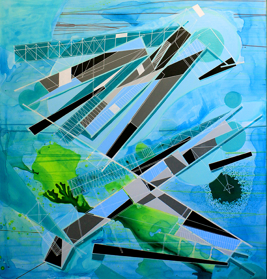 speculative paintings Architectural folly for a melting glacier